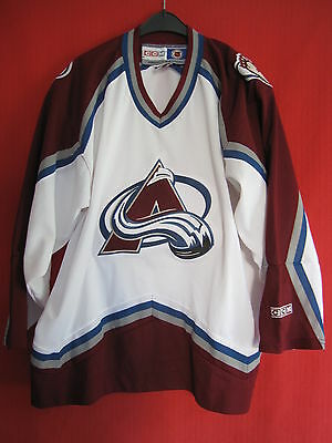 Maillot Hockey Avalanche du Colorado CCM Vintage Denver USA  BE - L
