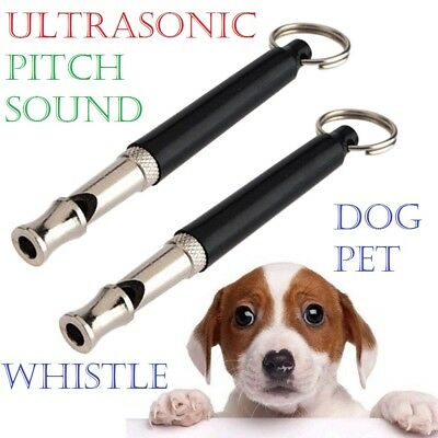 Dog Whistle Puppy Training Ultrasonic Pitch Sound Adjustable Silent Key Chain