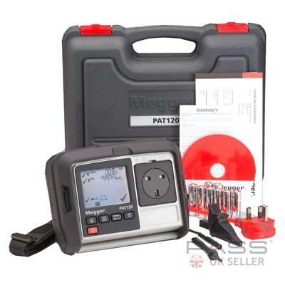 *NEW* Megger PAT120 Handheld Portable PAT Tester with Probe, Clip and Case / UK