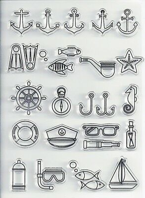 Transparent Silicone Clear Rubber Stamp Sheet Cling Scrapbooking DIY sea