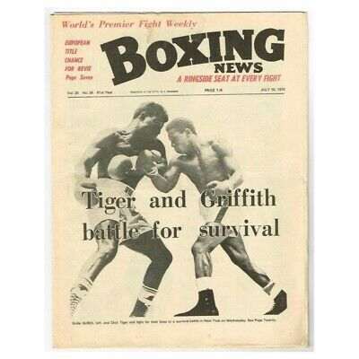 Boxing News Magazine July 10 1970 MBox3421/F Vol.26 No.28 Tiger and Griffith bat