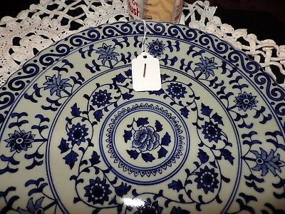 Chinese Porcelain Blue and White Decorative Plate Qing Dynasty Qianlong Period 1