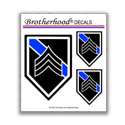 Decal Collection Police Sheriff Firearms Instructor Badge 3 pc