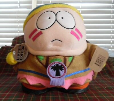 """1998 Comedy Central South Park 11"""" Native American Cartman Used Plush Soft Toy"""