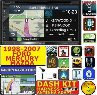 1998-2007 Ford Mercury Mazda  Kenwood Germin Nav Carplay Android Auto Stereo
