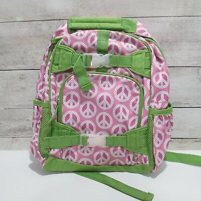 Pottery Barn Kids Girls Peace Sign Small Backpack Pink Bright