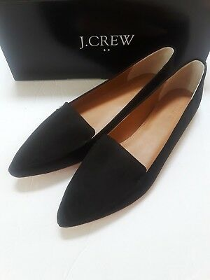 f8917c4bc1f J CREW FACTORY Edie loafers black suede NEW SZ 9 -  69.96