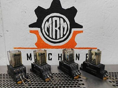 Omron MY4N 24VDC Relays & PYF14A Relay Sockets Used With Warranty (Lot of 4)