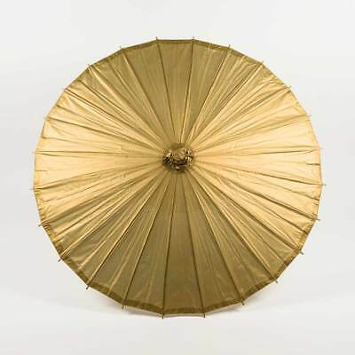 "28"" Copper Gold Paper Parasol Umbrella"