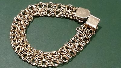 Vintage beautiful gold plated bracelet with marks