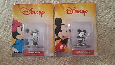 """Mickey And Minnie Mouse Metal Figurines approx 2"""""""