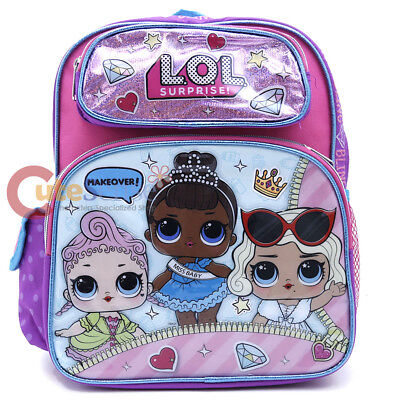 """Girls Blue Check Meowth 12/"""" School Bag 173696 LOL Surprise Small Backpack"""