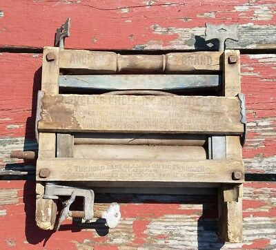 Antique 1896 ANCHOR BRAND Domestic Hand Crank CLOTHES WRINGER No. 110 - RARE