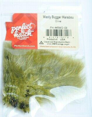 Wooly bugger marabou shad gray     MW137