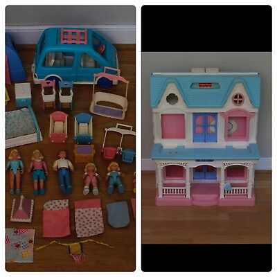 1993 Fisher Price Loving Family Dream Dollhouse Accessories
