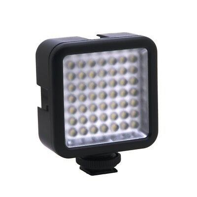 Mini DC 3V 5.5W 49 LED Luz de video la camara Panel 6000K para  Nikon DSLR CamG4
