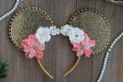 Gold Floral Moana inspired Disney Ears