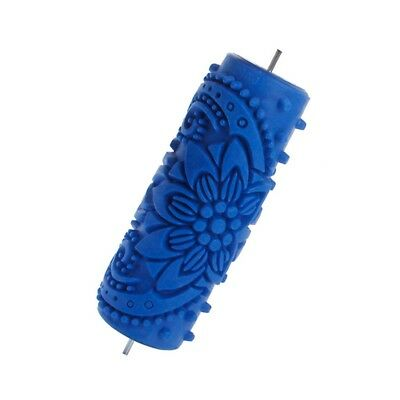 15cm Flower Knurled Relief Paint Roller  Tool for DIY Wall Shaping B6D6 B6D6