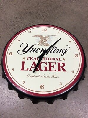 Yuengling Traditional Lager Wall Clock Beer Sign Decor Coors Miller Bud Corona