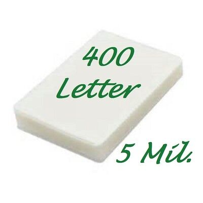 400 Letter Laminating Pouches Laminator Sheets 9 x 11-1/2 5 Mil Scotch Quality