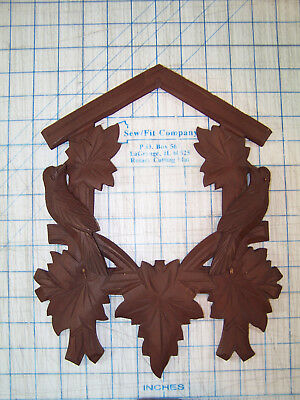 Cuckoo Clock Front Trim Part - Two Bird with Leaves Used