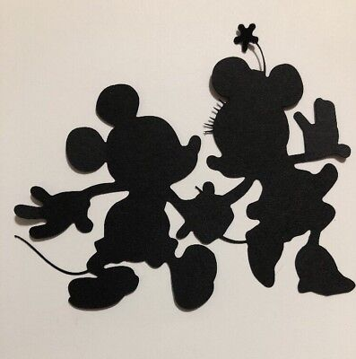Mickey & Minnie Mouse Silhouette Paper Piecing Handmade Die Cut