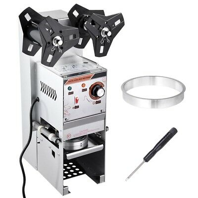 400-600 Cups/hr Electric Semi-automatic Bubble Tea Cup Sealer Sealing Machine AU