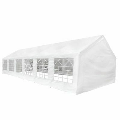 White Outdoor Gazebo Canopy Wedding Party Tent Marquee Removable Walls Garden US