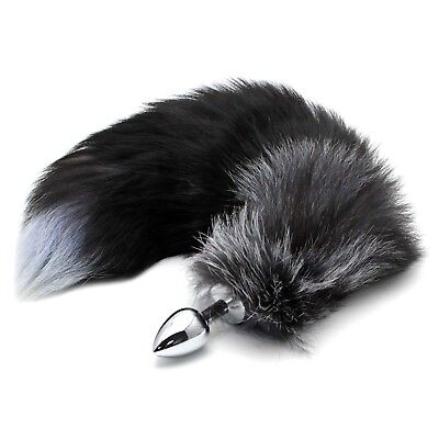 Stainless Steel Plug Faux Fur Animal Tail Fox Tail Female Cosplay Props Jewelry