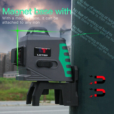 LETER 12Lines 3D green Laser Level Self-Leveling 360 degree  Laser Beam Line