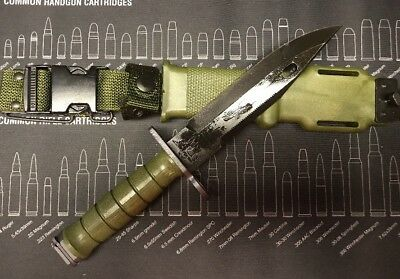 (NEW) Sealed Tri-Technologies U.S. Military M9 Bayonet Combat Knife w/ Scabbard