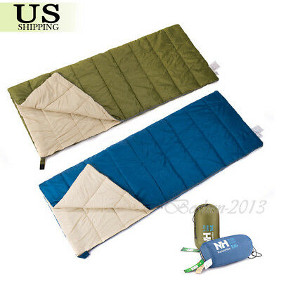 Ultra-light Envelope Sleeping Bag 4-Season Outdoor Camping Travel Hiking + Bag