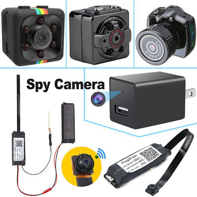 Wireless IP Hidden Spy Camera WIFI HD 1080P Wall Charger For Home Camcorder Cam