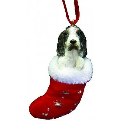 Springer Spaniel Santa's Little Pals Dog Christmas Ornament