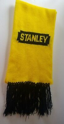 Stanley Tools Logo Scarf Winter Gear Black & Yellow Advertising Construction