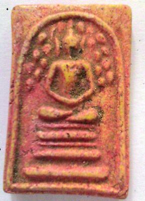 Rare Holy Powders Old Phra Somdej Prok Poh Thai Amulet Powerful Rich And Luck
