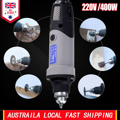 220V 400W Electric Die Grinder Power Drill Variable Speed Rotary Tool AU