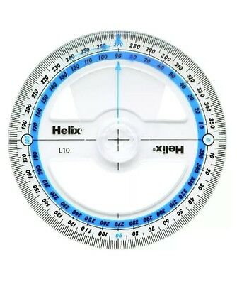 Helix 10cm 360 Degree Angle Measure L10 - Brand New - Great For School