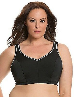 9bbe02815a2dd Lane Bryant Livi High Impact Molded Underwire Sports Bra Black White 42D  X691