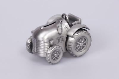 Tractor Money Box, Pewter Finish