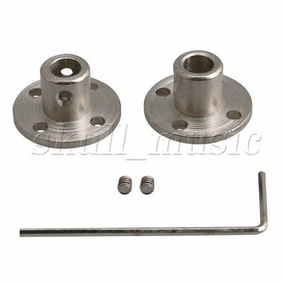 2PCS 6-10mm Rigid Flange Coupling Motor Guide Connector Set with Screw