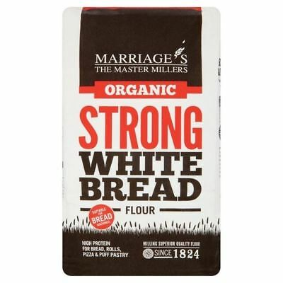 Marriage's Organic Strong White Bread Flour 1kg - Pack of 6