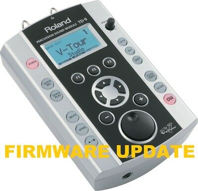 Roland TD-9 V2.0 update firmware FROM 1.0   2.0 TO 2.04