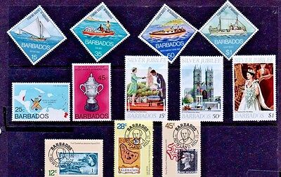 Barbados. 1974/79   Four great sets. SG480-3, SG559-60, SG574-6 & SG617-9  MNH