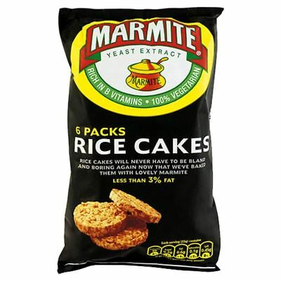 Marmite Rice Cakes (6 per pack - 150g) - Pack of 6