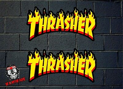 Pegatina Sticker Autocollant Adesivi Aufkleber Decal 2X Thrasher