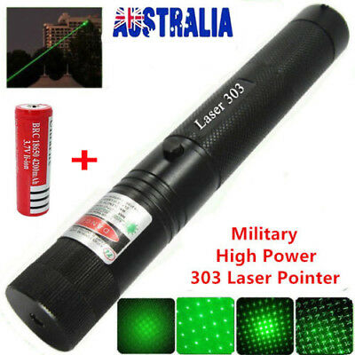 20 Miles Military Green 1mw 532nm Laser Pointer Pen Visible Beam +18650 Light #