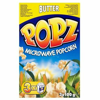 Popz Microwave Popcorn - Butter (3x100g) - Pack of 6