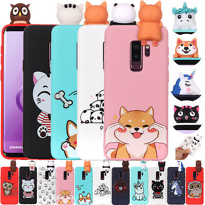 Cartoon Animal 3D Rubber Gel Case Phone Cover For Samsung Galaxy S7 S8 S9 + J730