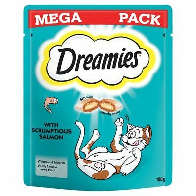 Dreamies Cat Treats Salmon Mega Pack 180g (PACK OF 6)